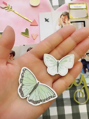 蝶のダイカット