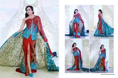 Contoh Gaun Kebaya Batik Terbaru