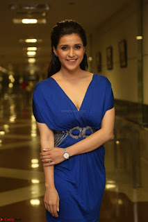 Mannara Chopra in Short Blue Dress at Rogue Movie Teaser Launch 1st March 2017 045.JPG