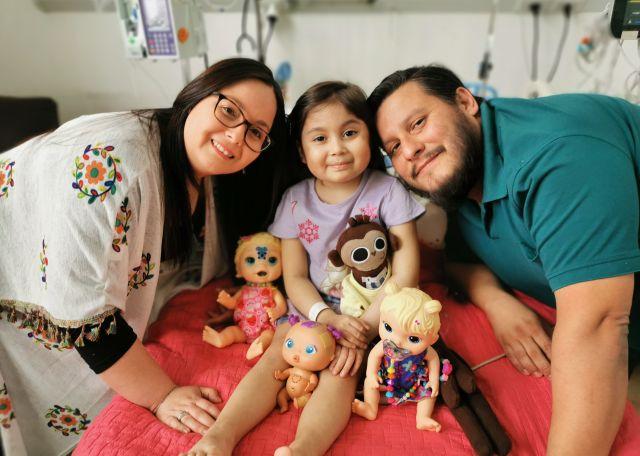 Catalina Pérez y sus padres