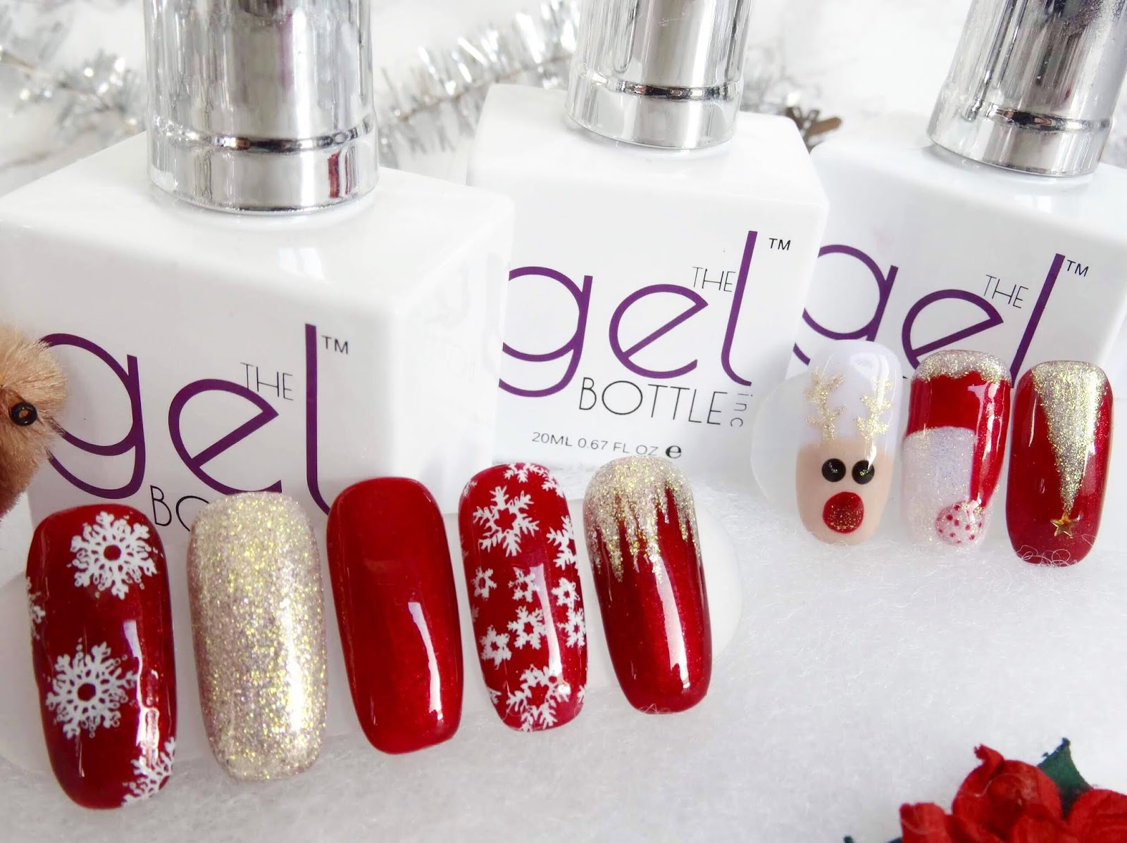 Christmas Nail Art Using TGB Polishes