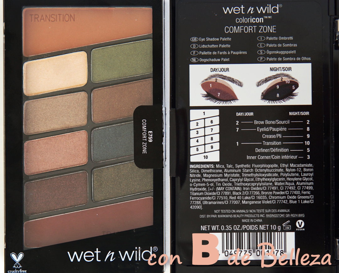 Wet n Wild paleta Comfort zone