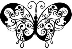 ilustrasi gambar dekoratif motif hewan kupu-kupu