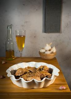 Receta de pollo al ajillo en Thermomix