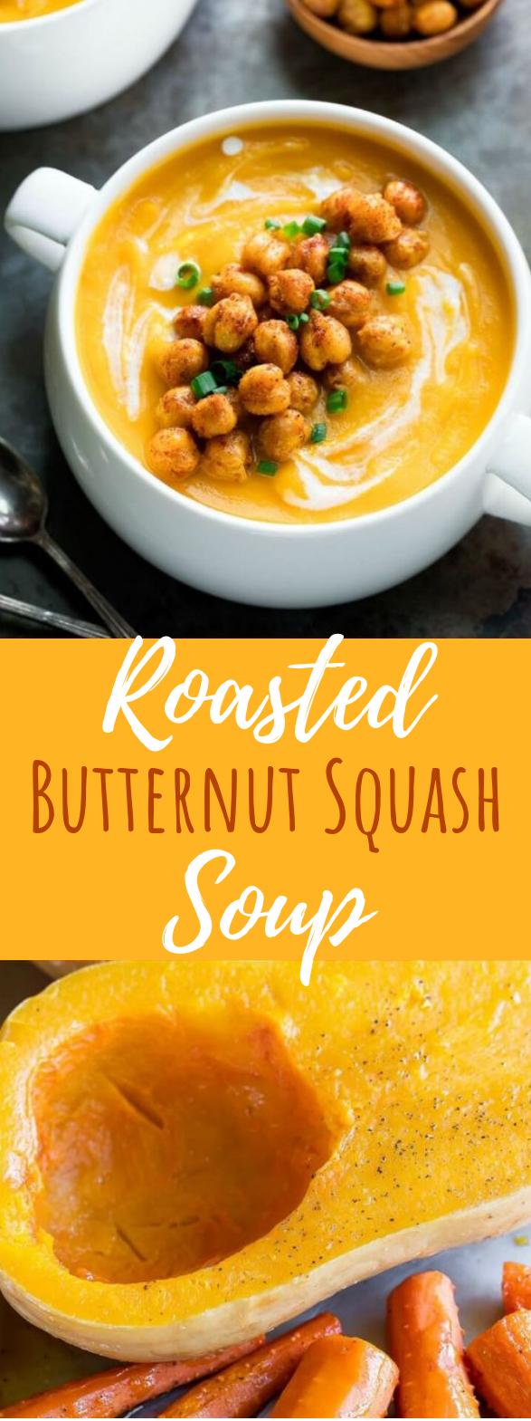 Roasted Butternut Squash Soup #vegetarian #dinner