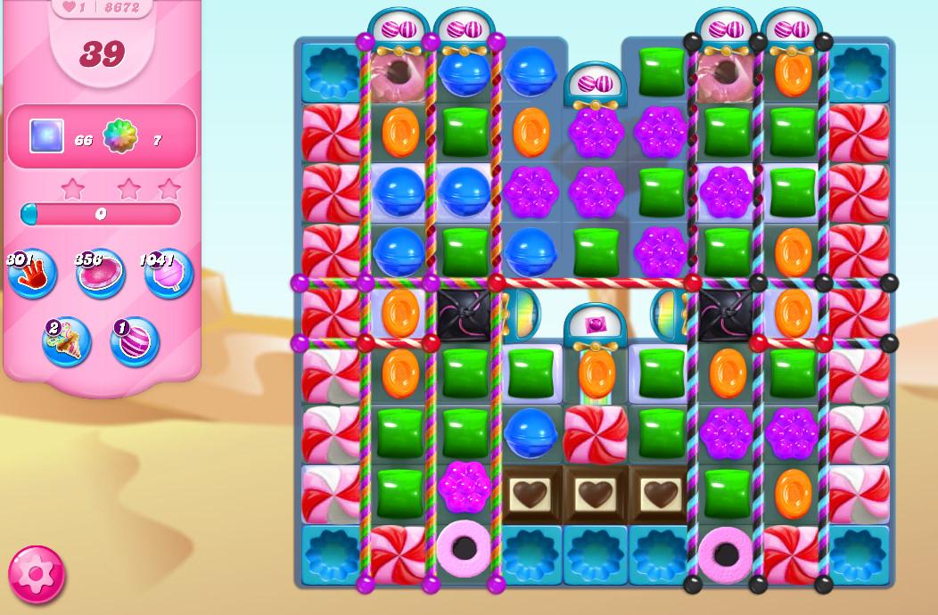 Candy Crush Saga level 8672