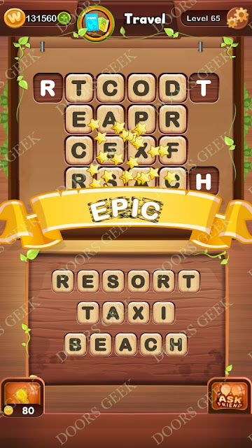Word Bright Level 65 Answers, Cheats, Solutions, Walkthrough for android, iphone, ipad and ipod