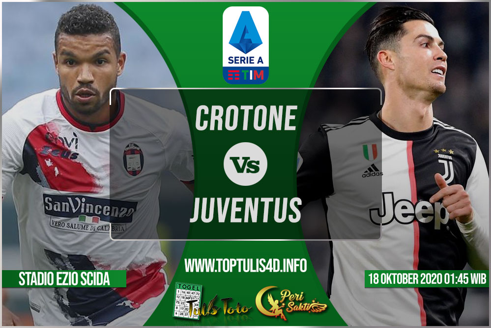 Prediksi Crotone vs Juventus 18 Oktober 2020