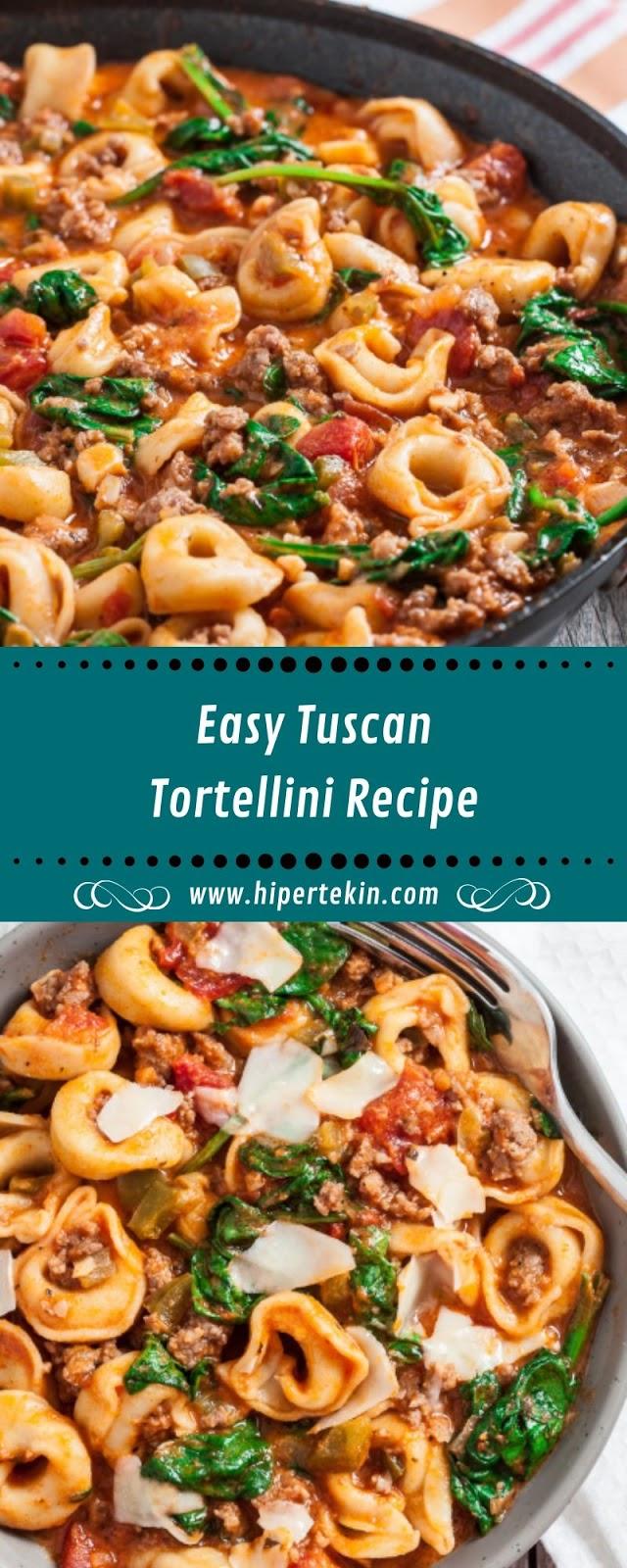Easy Tuscan Tortellini Recipe