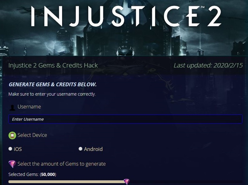 Injustice 2 Hack Cheat Get Unlimited Gems & Credits