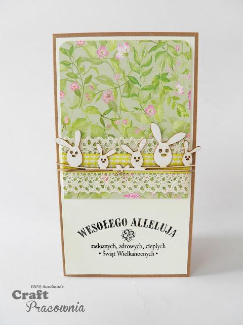 Wielkanocne życzenia z zajączkami