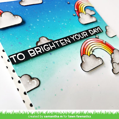 To Brighten Your Day Card by Samantha Mann for Lawn Fawnatics Challenge Blog, Distress Inks, Ink Blending, Encouragement Card, Paper Crafts, Card Making, Handmade Cards, #lawnfawn #lawnfawnatics #handmadecards #cardmaking #papercrafts