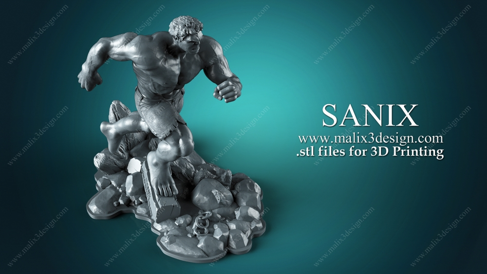 Summary -> Hulk 3d Printable Model Wwwmalix3designcom Sanix