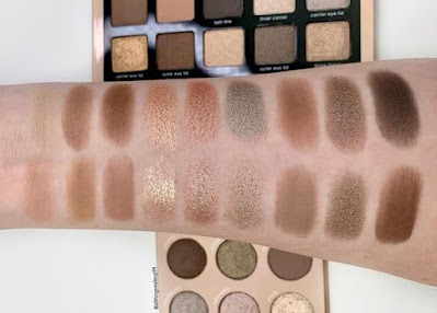 Natasha Denona Glam vs Colourpop That's Taupe swatches