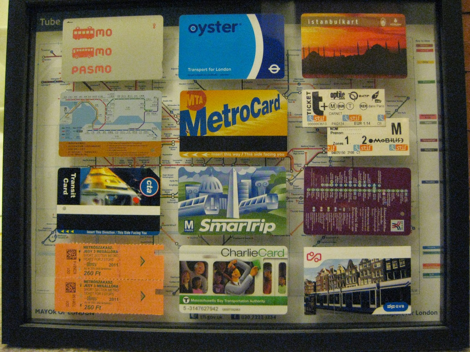 Transit card collection