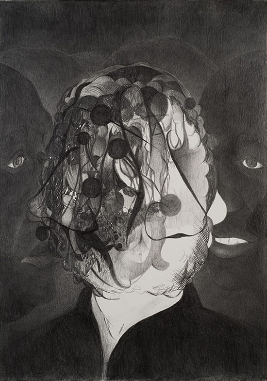 Pedro A.H. Paixâo  Untitled, 2017 graphite on paper 29.7 x 21 cm