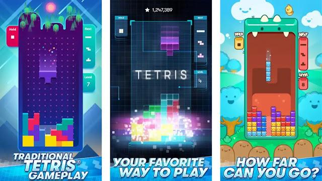 للعبة الالغاز الشهيرة تتريس Tetris
