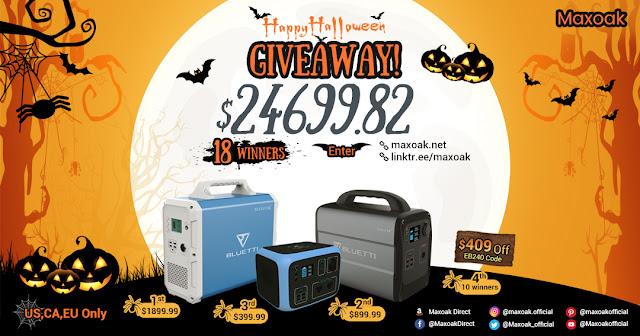 THE AMAZING $24699.82 Maxoak Halloween Giveaway!