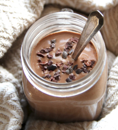 Hot Chocolate Breakfast Smoothie #smoothie #hot drink