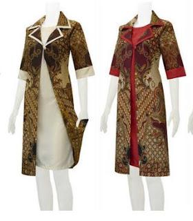 Model cardigan pesta pernikahan motif batik cantik