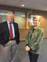 Commissioner Kreidler and Judy Ellis, SHIBA volunteer  with Sound Generations in Shoreline