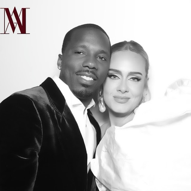 Singer Adele shows off her Boo, Rich Paul for the first time on social media(Photos)