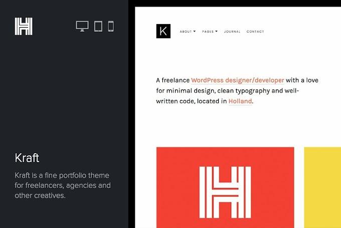 Download Theme Portfolio - Kraft Portfolio WordPres Theme