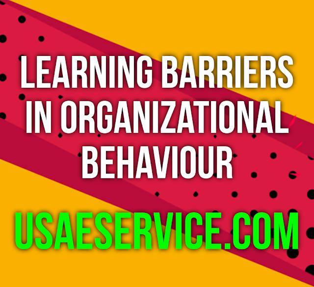Learning Barriers In Organizational Behavior