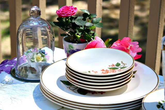 china, tablescape, wedding, mother, celebrate, decorate, patio, homemaking