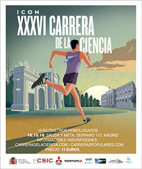 XXXVI Carrera de la Ciencia. Domingo 16 de octubre de 2016