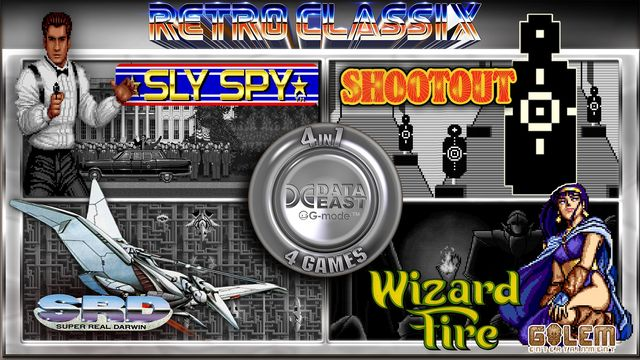 Retro Classix 4in1 Pack: Sly Spy, Shootout, Wizard Fire & Super Real Darwin v1.0 NSP XCI For Nintendo Switch