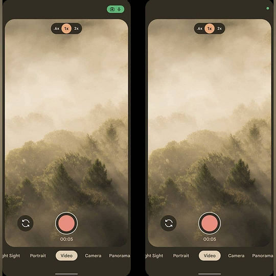 Android 12 Camera UI
