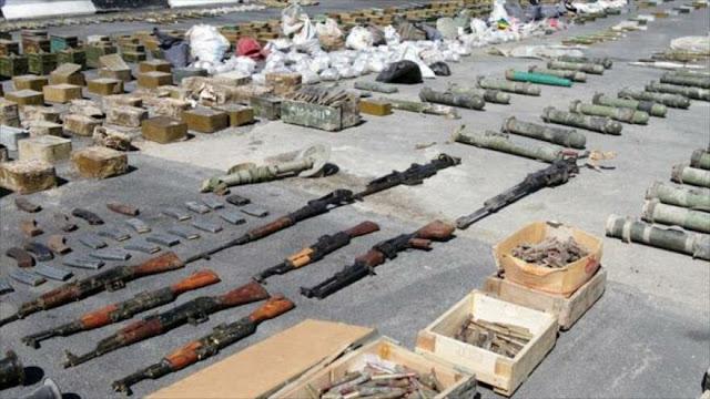 Siria descubre armas estadounidenses utilizadas por terroristas