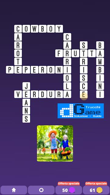 Soluzioni One Clue Crossword livello 19 schemi 1(Cruciverba illustrato)  | Parole e foto