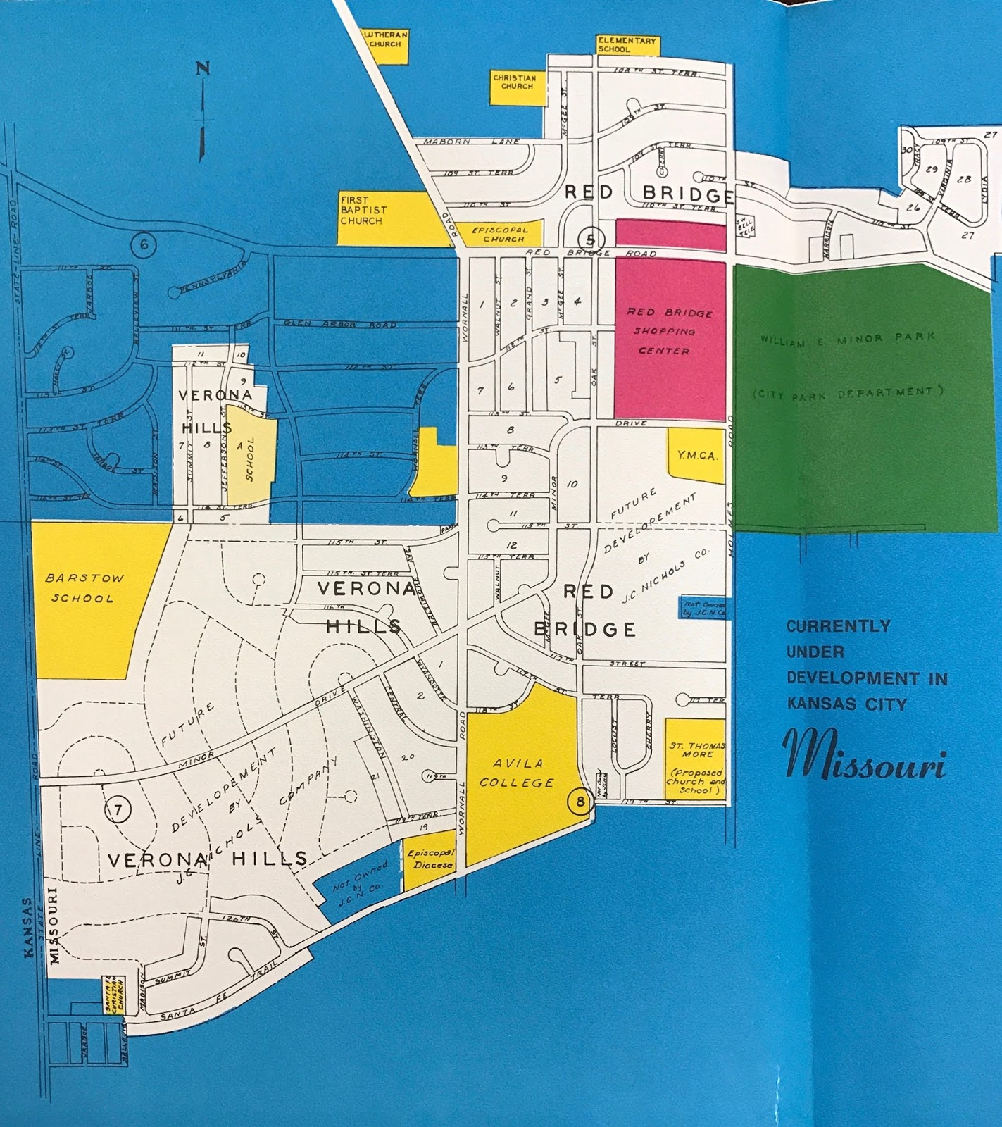 planned street map for verona hills circa 1965 state historical society of missouri