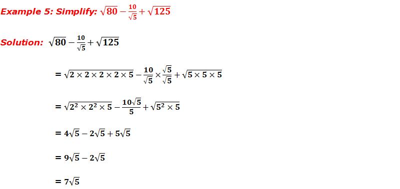 Example 5: Simplify