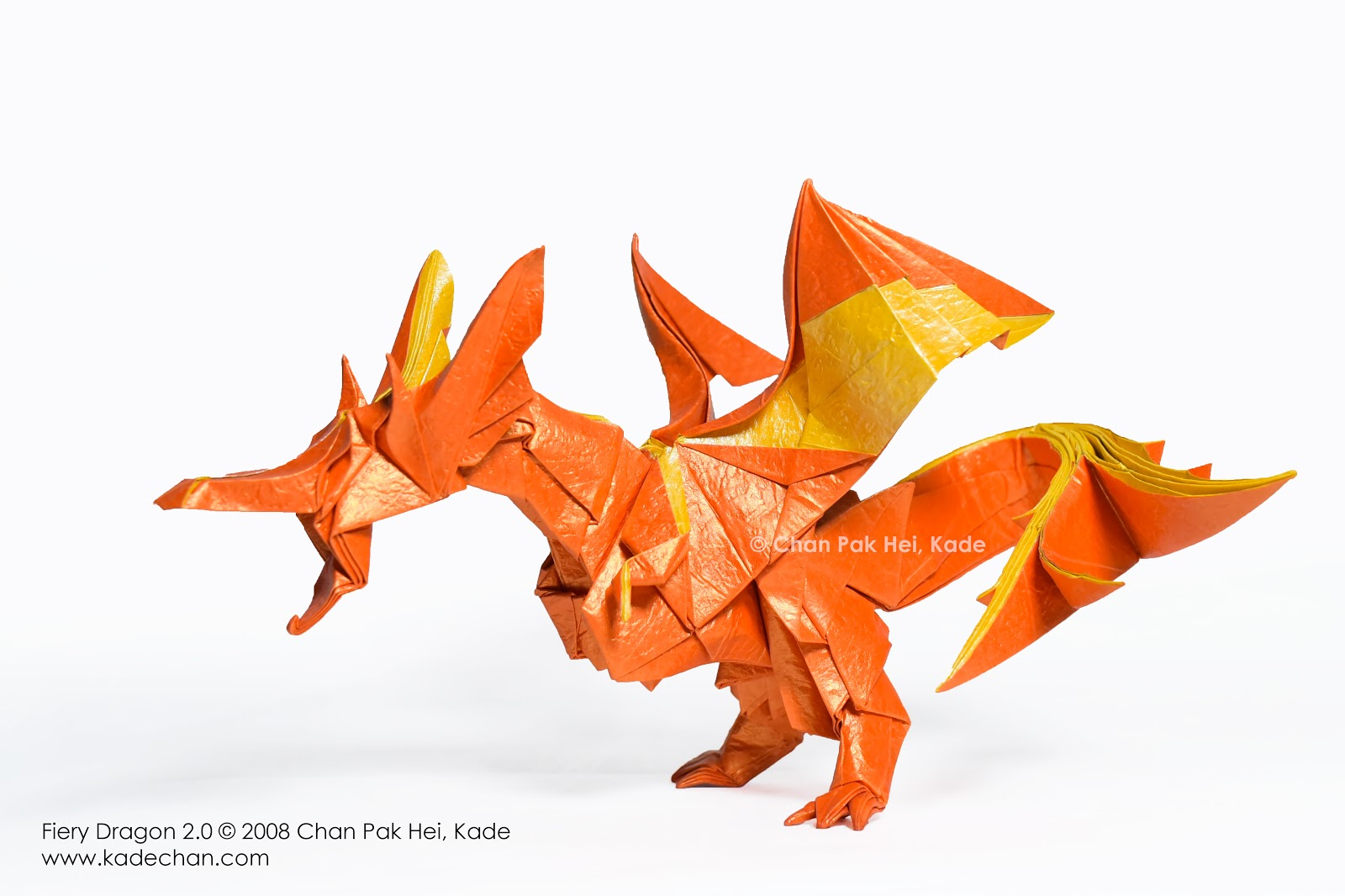 Fiery Dragon, designed by Kade Chan and folded by me - Imgur | 1066x1600