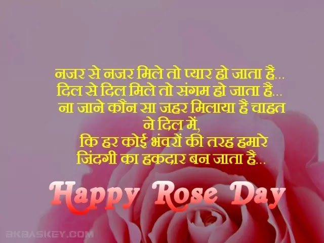 Happy Rose Day Shayari, status, Quotes, sms, essages in Hindi
