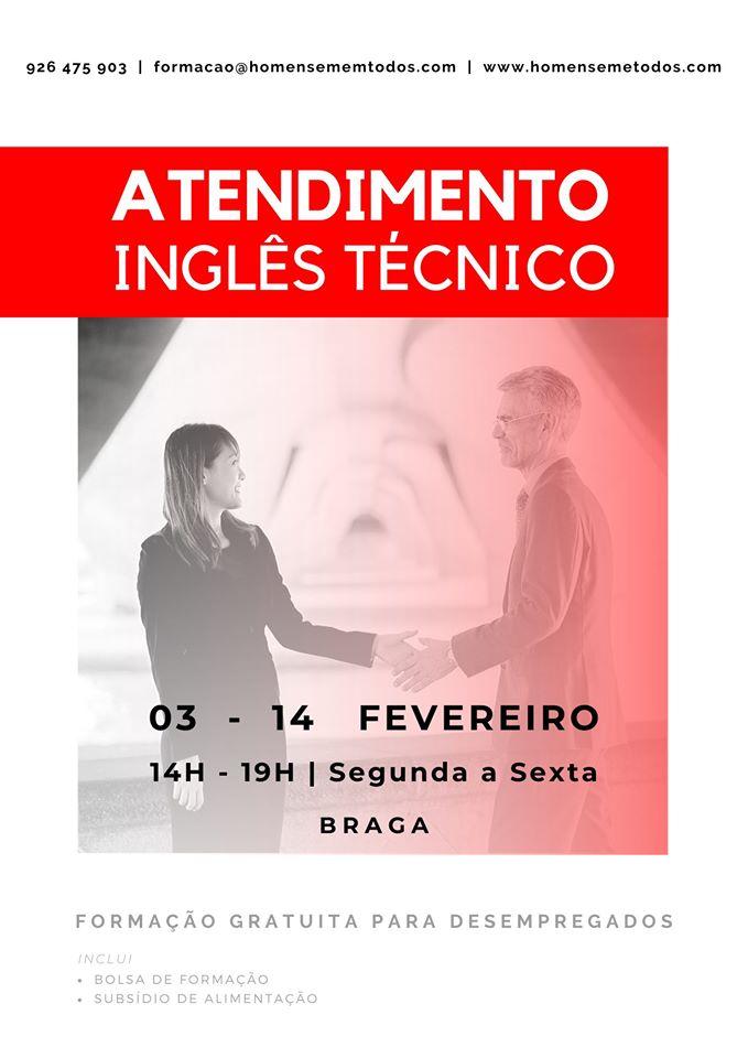 Braga – Curso de Inglês (Atendimento) gratuito para desempregados