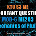 Mechanics of Fluids ME203 Important Questions | Module-6