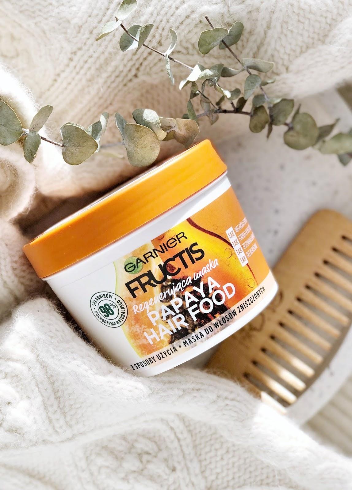 Maska-regenerujaca-Garnier-Fructis-Papaya-Hair-Food-do-wlosow-zniszczonych