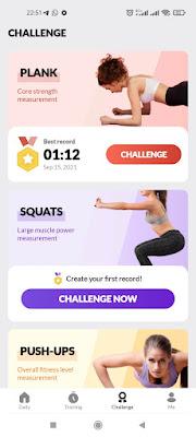 tantangan workout