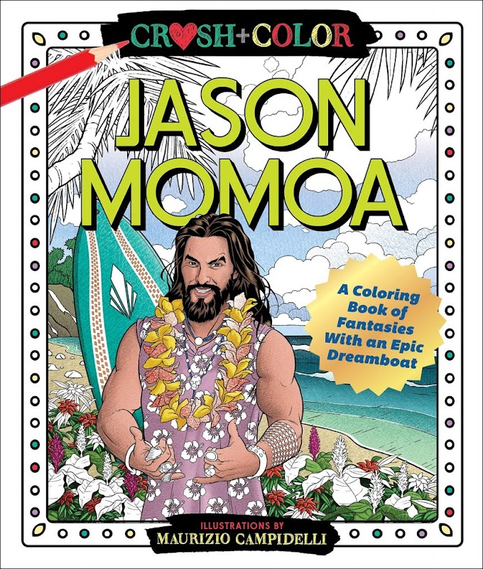 Editan el libro de colorear para adultos de Jason Momoa