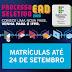 Matrículas do Processo Seletivo EaD do IFPR podem ser feitas até 24 de setembro