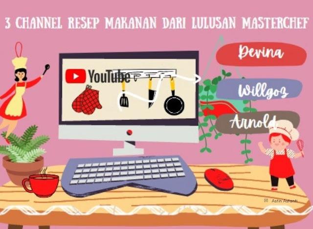 3 channel resep makanan dari Youtube