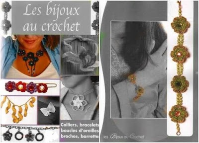 Bisutería patrones crochet. Revista