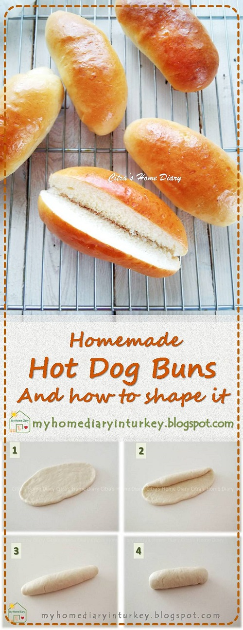 HOMEMADE Hot Dog Buns Recipe (eggless) and how to shape hot dog buns | Çitra's Home Diary. #hotdogbun #howtoshapehotdogbun #homemadehotdog #rotimanis #rotihotdog #softbread #bunrecipe #homemadebuns
