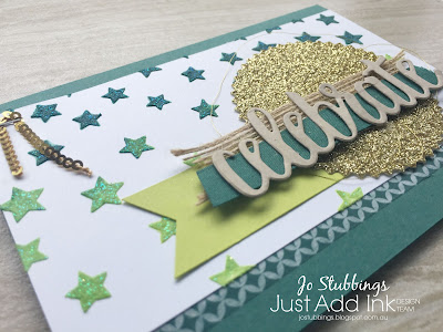 Jo's Stamping Spot - Just Add Ink #393 Colour Challenge using Celebrate You Thinlits by Stampin' Up!