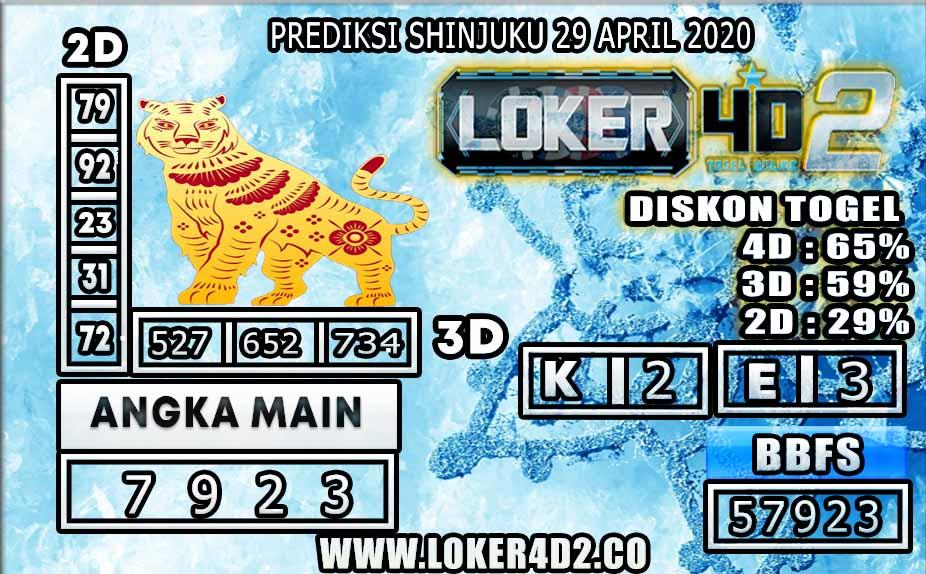 PREDIKSI TOGEL SHINJUKU LUCKY 7 LOKER4D2 29 APRIL 2020