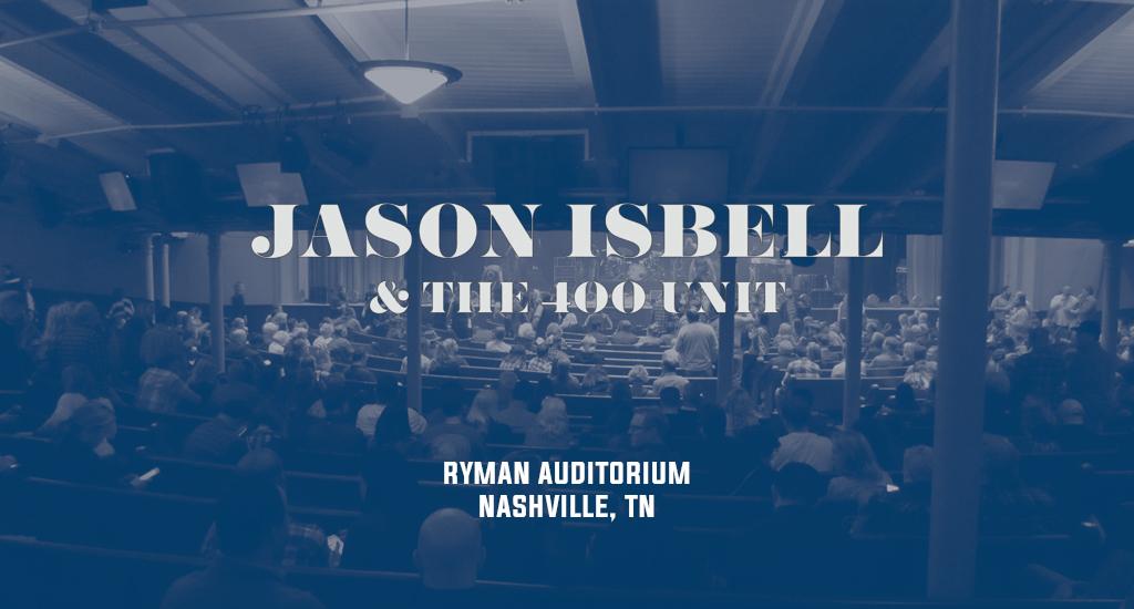 Ryman Auditorium and Jason Isbell & The 400 Unit logo